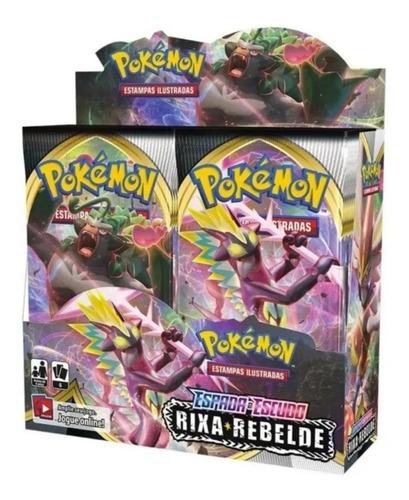 Booster Box Pokémon Coleção Espada Escudo 2 Rixas Rebelde