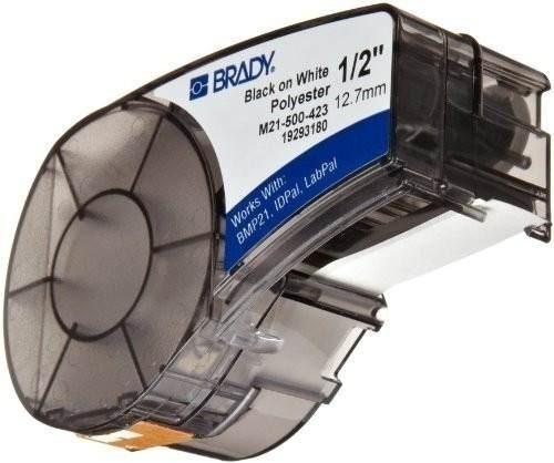 Etiqueta Fita M21-500-423 Brady Preto/branco Poliéster