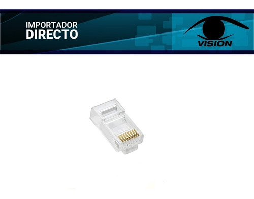 Conector Rj45 Macho Cat6 8p8c - Dorado - Rj45(6e) - X100