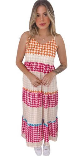 Vestido Longo Xadrez Vichy Moda Blogueira