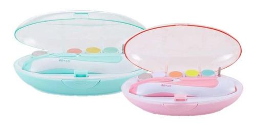 Aparador De Unha Elétrica Bebê Cortador Lixa Unha Azul Rosa