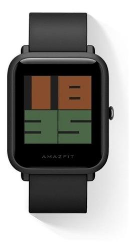 Smartwatch Amazfit Basic Bip S 1.28  Caixa De  Policarbonato  Carbon Black Pulseira De  Tpu A1821