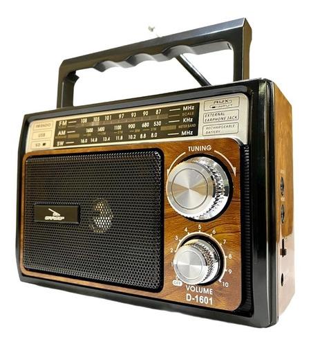Rádio A Pilha Força Am Fm Sw Pendrive Sd Radinho Usb Bat