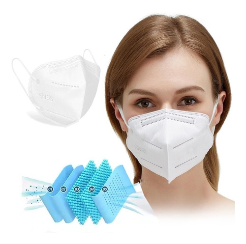 Kit 30 Máscaras Kn95 Proteção 5 Camada Respiratória Pff2 N95
