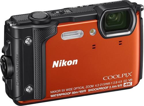 Camera Nikon Coolpix W300 4k/16mp/30m/wifi Laranja