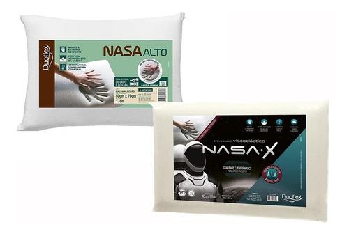 1 Travesseiro Nasa Alto 17cm E 1 Nasa 10cm - Duoflex