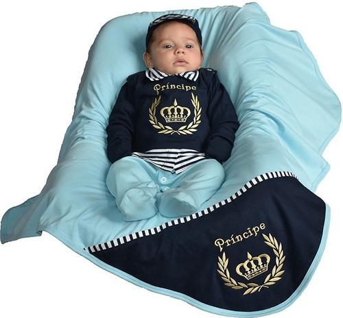 Kit Saída Maternidade Menino Pronta Entrega 100% Algodão