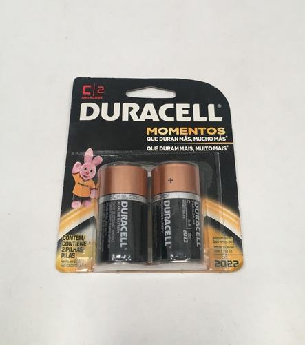 Pilas Duracell Alcalina C2 Pack Con 2 Pilas Vto Dic 2022