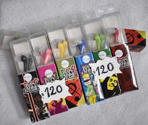 Auriculares My Music Variedad De Colores