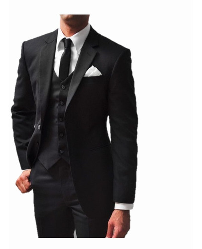 Kit Social Completo - Calça+paleto+gravata+camisa+colete