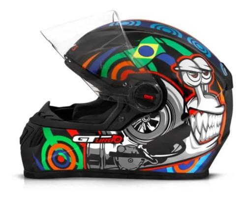 Capacete Fw3 Gt Turbo Preto