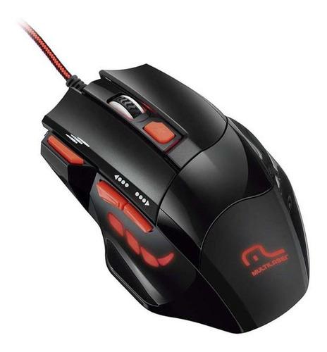 Mouse De Juego Multilaser  Fire Mo236 Negro Y Rojo
