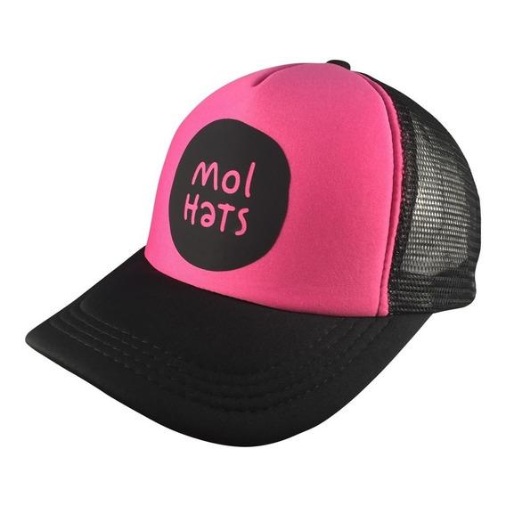 Gorra Tipo Trucker Logo Mol Hats Vinilo Calidad Premium Fluo