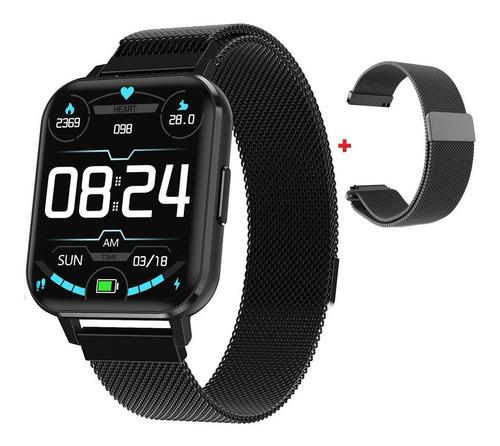 Smartwatch Iwo Dtx Preto Tela 1.78 Hd Original 2 Pulseiras