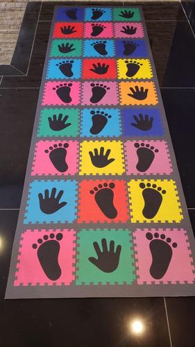 Tapete Criança Infantil Desafio Jogo Brincadeira Pés Mãos