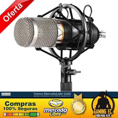 Bm-800 Gamec Micrófono De Grabacion Usb + Araña + Protector
