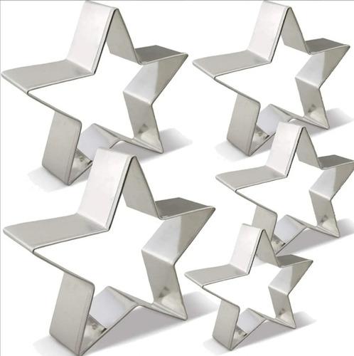 Set X5 Cortadores Para Galletas En Forma De Estrella