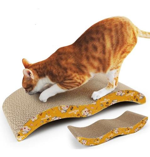Rascador De Carton Corrugado Para Gatos + Catnip 44x21cm Dc