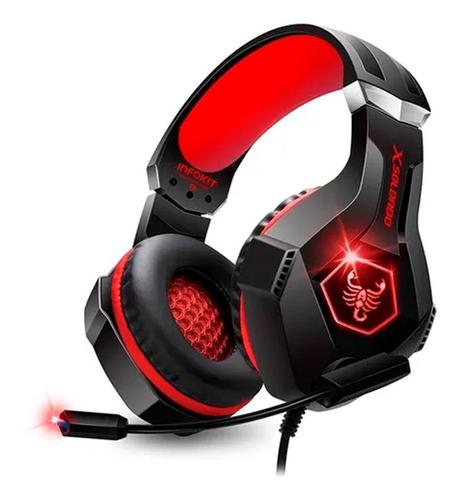 Headfone Gamer Scorpion Bass C/ Microfone Ps4 Xbox Pc Usb P2