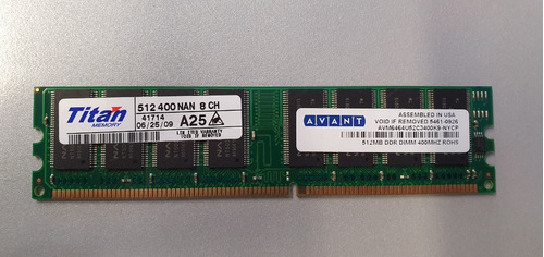 Ddr 400 512mb Memoria Ram