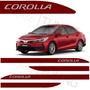Kit Friso Toyota Corolla Vermelho Granada Soleira Aço Ino
