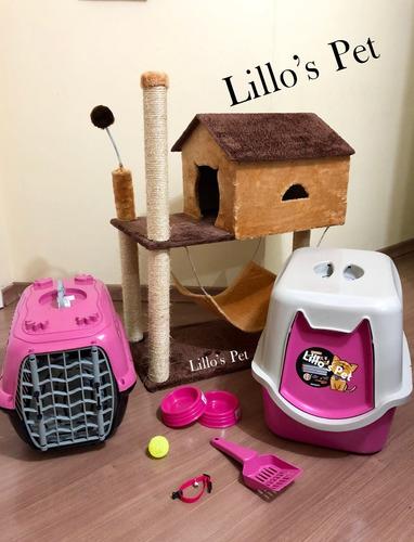 Arranhador Gato Casinha + Kit Wc Completo