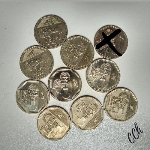 Lote 9 Monedas Tumi De Oro Riqueza Y Orgullo Del Perú Cch
