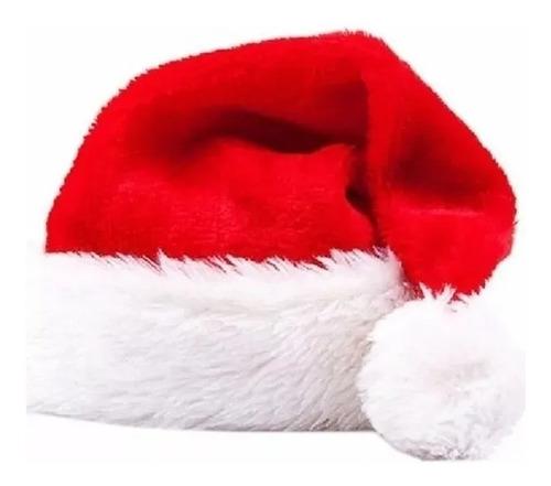 5 Gorro De Natal Papai Noel Vermelho Veludo Touca Noel C/ Nf