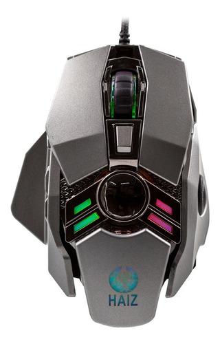 Mouse Gamer 3200dpi 7botões Led Rgb Base Metalica 7d