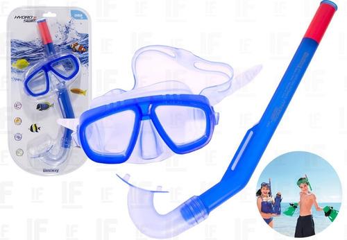 Kit Mergulho Mascara Respirador Snorkel Infantil Original
