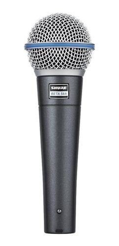Micrófono Inalámbrico Shure Beta Series Beta 58a Dinámico  Supercardioide Negro