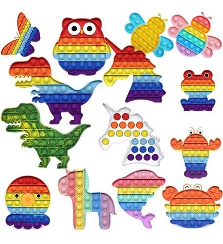 Fidget Toys Hand Spinner Anti Stress Pop It Bolha Colorido