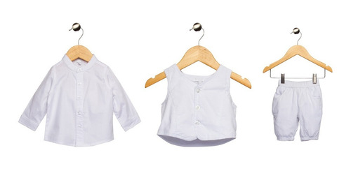 Conjunto Batizado Bebê 3 Peças Tip Top Branco 1 09 00 21