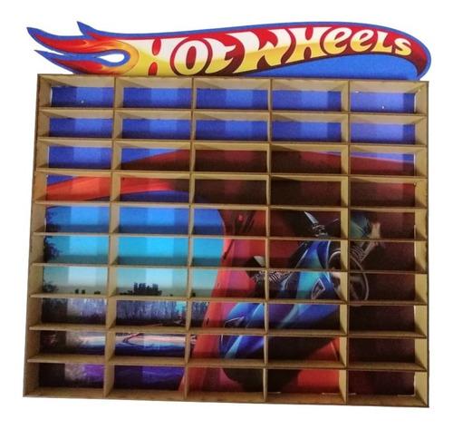 Estante Tipo Hot Wheels  Porta Carrinho Para 50 Und Mdf