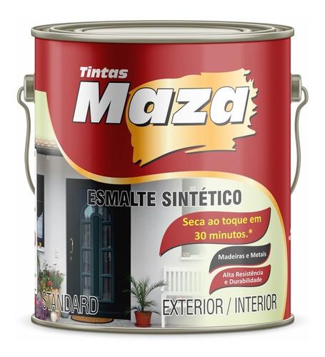 Tinta Esmalte Sintético Fosco Metais Madeiras 3, 6l Maza