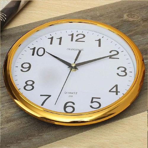 Reloj De Pared Al Mayor Y Detal Dorado Y Plateado 30cm