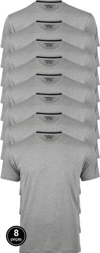 Kit 8 Camiseta Masculina Básica Atacado Algodão 30.1 Premium
