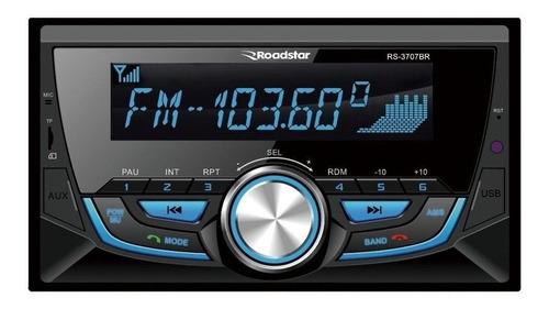 Som Automotivo Roadstar Rs-3707 Com Usb, Bluetooth E Leitor De Cartão Sd