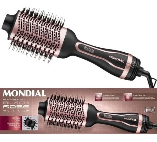 Escova Secadora Mondial Black Rose 1200w Ceramica Ions Es-05