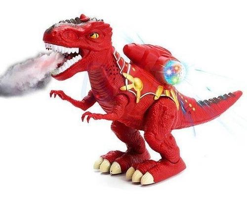 Dinossauro Rex Anda Solta Fumaça Emite Som E Luzes