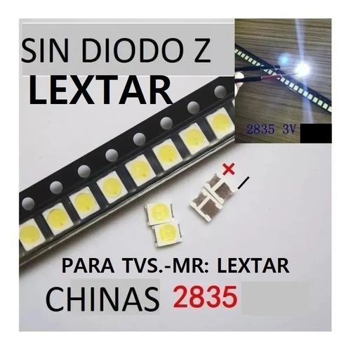 100 Leds   2835 3v 1w Vios Y Mas Tv, Chinas