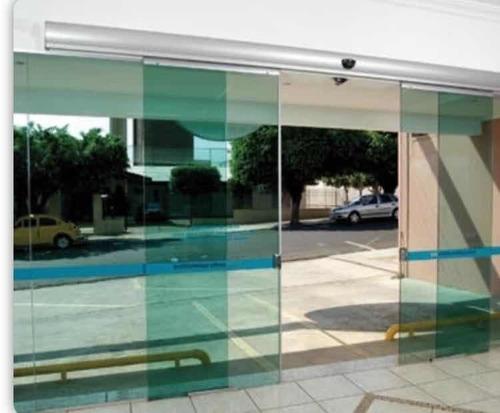 Porta De Correr Automática Em Vidro Bonaflash Auto Fluxo