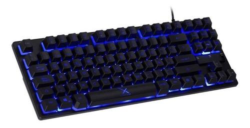 Teclado Gamer Xzeal Xst-300 Qwerty Español España Color Negro Con Luz 3 Colores