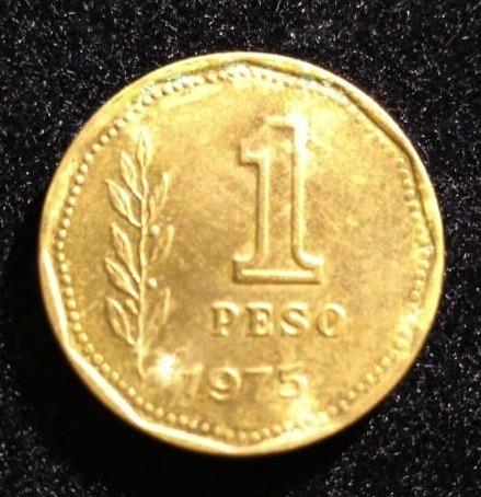 Moneda 1 Peso 1975 Muy Bien Conservada Cod. 2