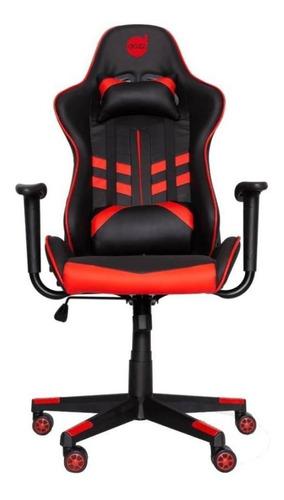 Cadeira De Escritório Dazz Prime-x  Preta E Vermelho Com Estofado Do Couro Sintético
