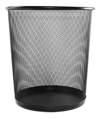 Lixeira Metal Aramado Cesto Lixo Escritório 10 Litros