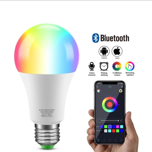 Lâmpada De Led Bluetooth