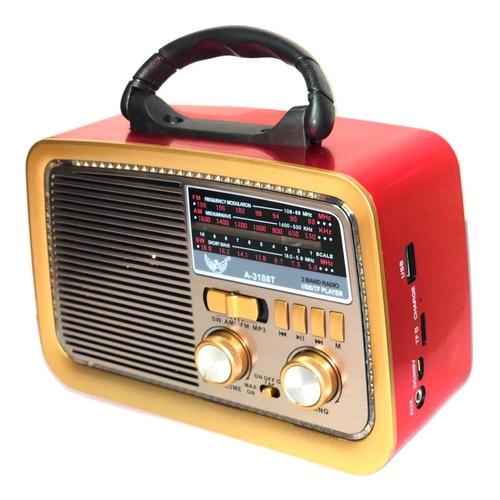 Caixa Som Antiga Radio Portátil Retro Bluetooth Am Fm Sd Usb