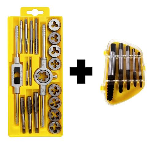 Kit Tarrajas Y Machuelos + Extractor Uyustools X 25 Piezas