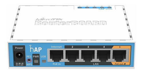 Access Point Interior Mikrotik Routerboard Hap Ac Lite Rb952ui-5ac2nd Azul Y Blanco